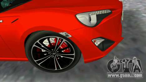 Toyota GT86 for GTA Vice City back left view