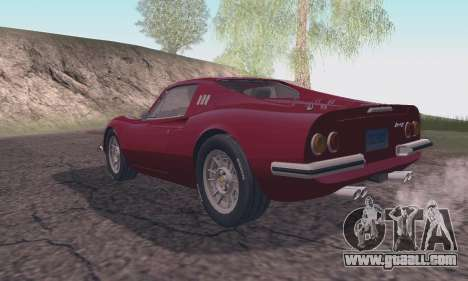 Ferrari Dino 246 GTS Coupe for GTA San Andreas left view