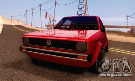 Volkswagen Golf Mk I Punk for GTA San Andreas back left view