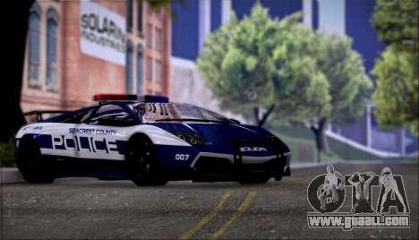 Lamborghini Murciélago LP670-4 SuperVeloce 2010 for GTA San Andreas back view