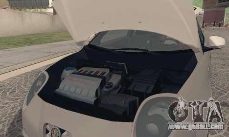 Afla Romeo Mito Quadrifoglio Verde for GTA San Andreas back view