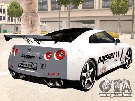 Nissan GTR-R35 Spec-V for GTA San Andreas bottom view