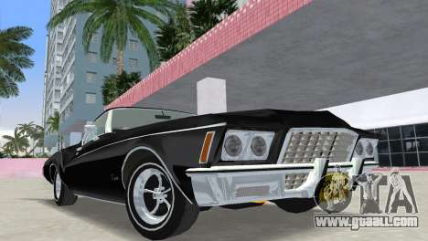 Buick Riviera 1972 Boattail for GTA Vice City back view