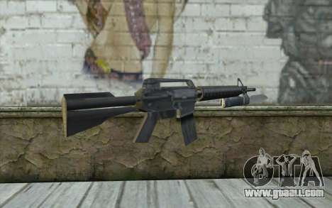 M4A1 with a bayonet for GTA San Andreas second screenshot
