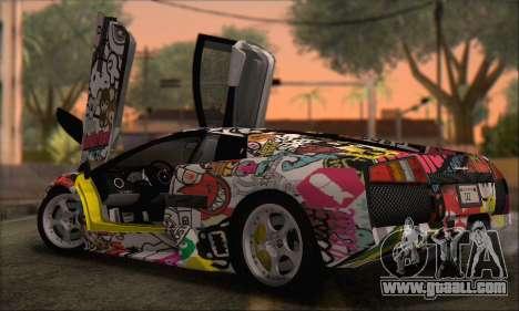 Lamborghini Murcielago 2005 Same Editions HQLM for GTA San Andreas back left view