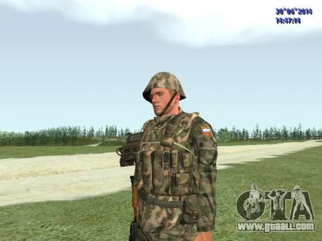 The fighter of the Russian army for GTA San Andreas third screenshot