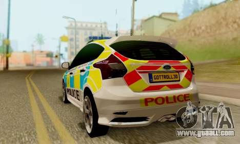 Ford Focus ST 2013 British Hampshire Police for GTA San Andreas left view