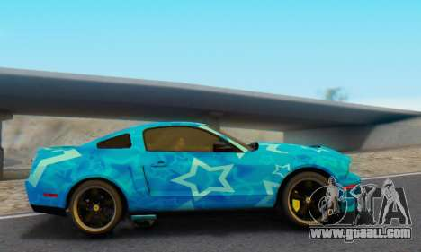Ford Mustang Shelby Blue Star Terlingua for GTA San Andreas left view
