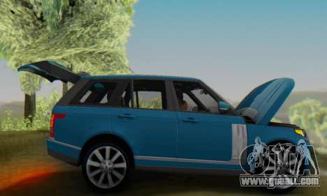 Range Rover Vogue 2014 V1.0 Interior Nero for GTA San Andreas back view