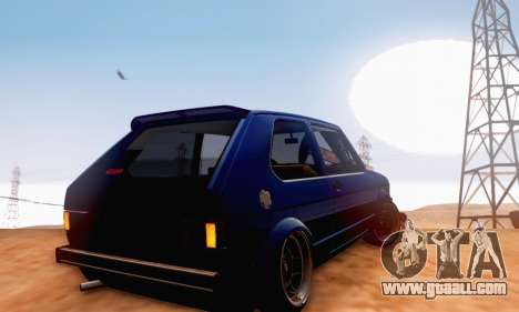 Volkswagen Golf Mk I Punk for GTA San Andreas back view