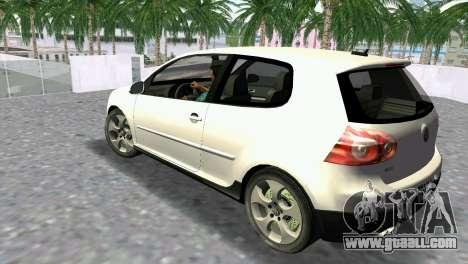 Volkswagen Golf V GTI for GTA Vice City left view
