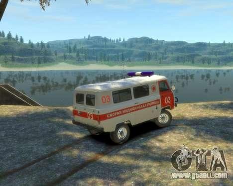 UAZ 39629 Ambulance for GTA 4 left view