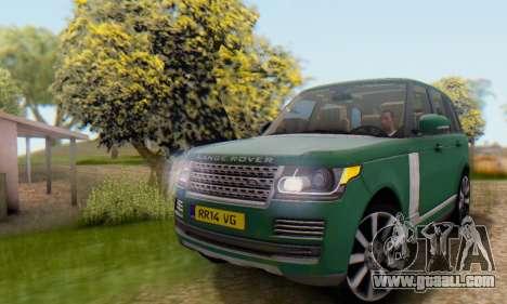Range Rover Vogue 2014 V1.0 UK Plate for GTA San Andreas inner view