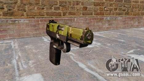 Gun FN Five seveN Woodland for GTA 4