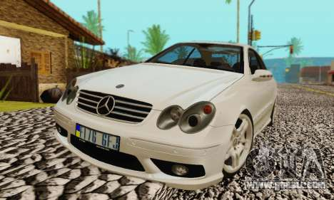 Mercedes-Benz CLK55 AMG 2003 for GTA San Andreas engine