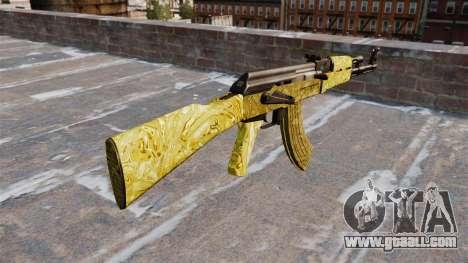 The AK-47 Gold for GTA 4 second screenshot