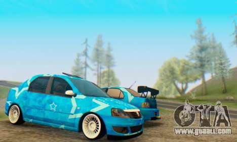 Dacia Logan Blue Star for GTA San Andreas