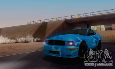 Ford Mustang Shelby Blue Star Terlingua for GTA San Andreas right view