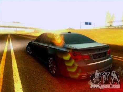 BMW 750li for GTA San Andreas back left view