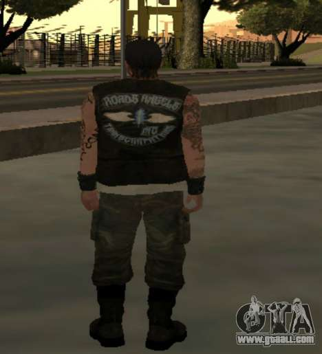 Biker from the club Roads Angels for GTA San Andreas third screenshot