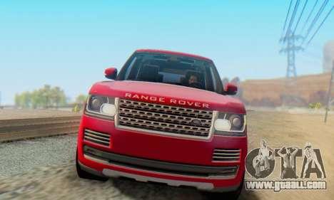 Range Rover Vogue 2014 V1.0 Interior Nero for GTA San Andreas left view