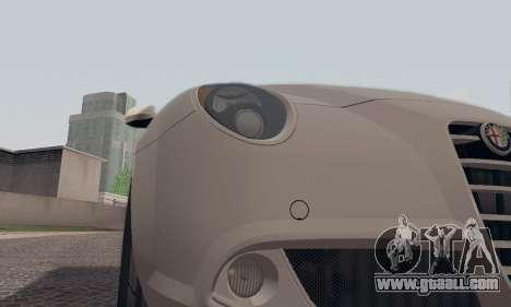 Afla Romeo Mito Quadrifoglio Verde for GTA San Andreas engine