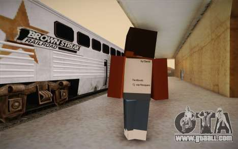 Cj Minecraft for GTA San Andreas second screenshot