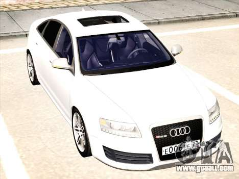 Audi RS6 for GTA San Andreas back left view