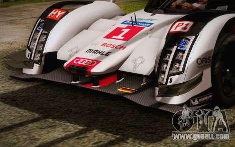 Audi R18 E-tron Quattro 2014 for GTA San Andreas inner view