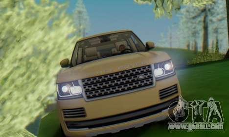 Range Rover Vogue 2014 V1.0 SA Plate for GTA San Andreas right view