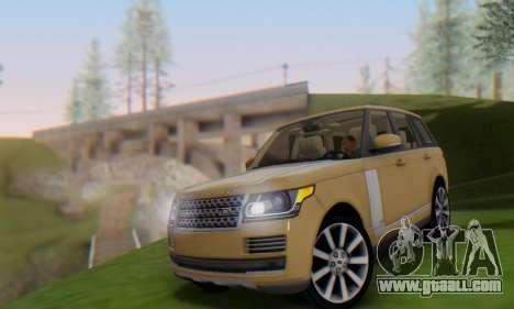 Range Rover Vogue 2014 V1.0 SA Plate for GTA San Andreas