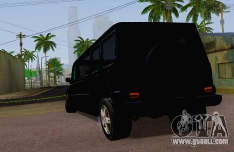 Mercedes-Benz G500 Limousine for GTA San Andreas back left view
