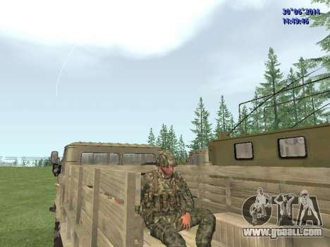 The fighter of the Russian army for GTA San Andreas sixth screenshot