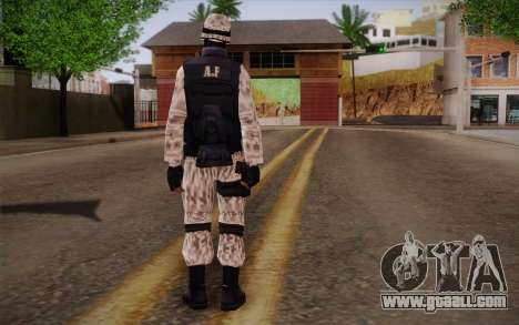 SWAT Snow Camo for GTA San Andreas second screenshot