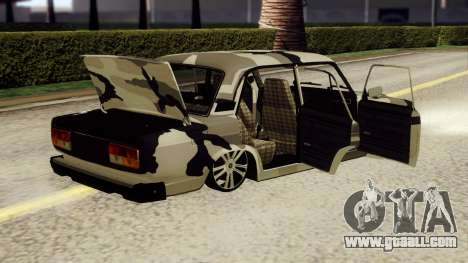 VAZ 2107 in camouflage for GTA San Andreas back left view