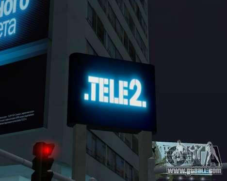 Office TELE2 for GTA San Andreas forth screenshot