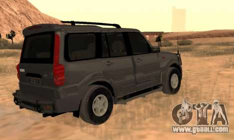 Mahindra Scorpio for GTA San Andreas back view