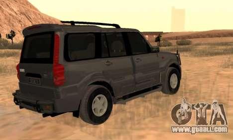 Mahindra Scorpio for GTA San Andreas back view