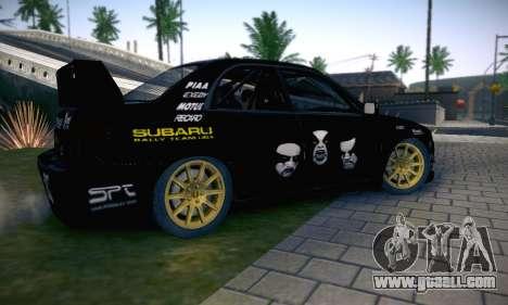 Subaru Impreza WRC STI Black Metal Rally for GTA San Andreas engine