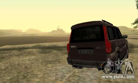Mahindra Scorpio for GTA San Andreas upper view
