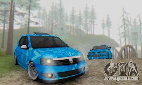 Dacia Logan Blue Star for GTA San Andreas side view