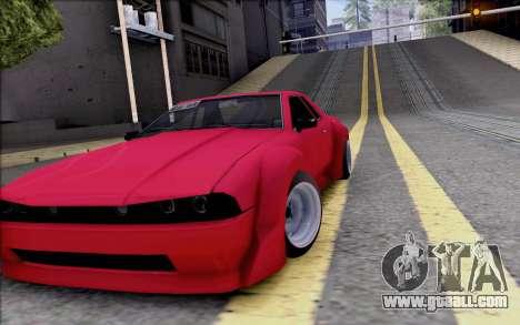 Elegy Rocket Bunny for GTA San Andreas inner view