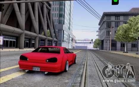 Elegy Rocket Bunny for GTA San Andreas right view