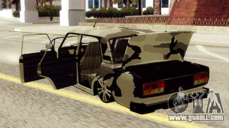 VAZ 2107 in camouflage for GTA San Andreas right view