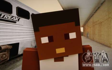 Cj Minecraft for GTA San Andreas third screenshot