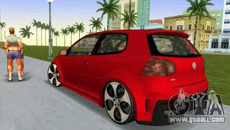 Volkswagen Golf GTI W12 for GTA Vice City left view