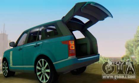 Range Rover Vogue 2014 V1.0 Interior Nero for GTA San Andreas right view