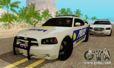 Pursuit Edition Police Dodge Charger SRT8 for GTA San Andreas inner view