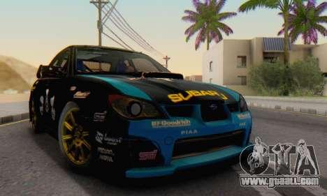 Subaru Impreza WRC STI Black Metal Rally for GTA San Andreas right view