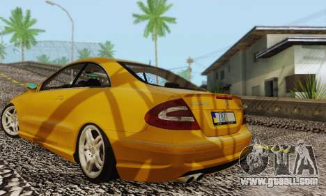 Mercedes-Benz CLK55 AMG 2003 for GTA San Andreas bottom view